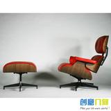 Eames  伊姆斯躺椅 休闲沙发椅 真皮沙发椅 午休椅弯木躺椅皇帝椅
