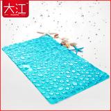 浴室防滑垫洗澡淋浴房大吸盘按摩脚垫卫生间地垫门垫防滑垫子