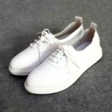 2016新品小白鞋女鞋真皮头层牛皮超软耐磨透气纯白休闲鞋运动鞋