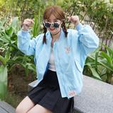 韩国原宿风秋季外套女学生春秋韩版棒球服学院风短款长袖宽松夹克
