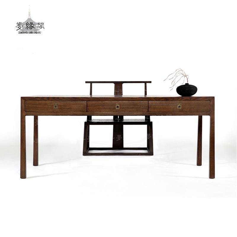 中式实木书桌 1.图片