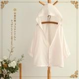 韩国代购夏装新款棉竖麻条纹宽松连帽防晒长袖空调衬衫外贸衬衣女