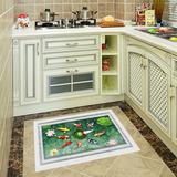 3D立体墙贴卧室儿童房贴纸装饰客厅浴室卫生间贴画创意厨房地板贴