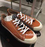 HM H&M香港深圳专柜正品代购纯色系带平跟休闲运动鞋帆布鞋男装