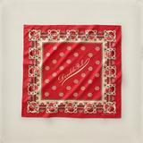 RRL方巾 复古咔叽 罕有老式玫瑰印花图案 西部牛仔风格棉质围巾