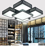 大客厅的灯具大气长方形LED吸顶灯家装中式卧室灯几何造型客厅灯