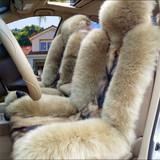 奥迪A4L A6L A8 Q3 Q5 Q7 A3TT冬季汽车真皮纯羊毛坐垫 狼皮座垫