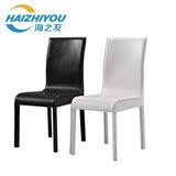 海之友家具 黑白PU皮餐椅 鳄鱼纹皮纹椅子家用办公椅仿皮椅子