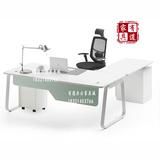 1.8米老板桌简约时尚创意电脑桌钢木大班台家用办公桌转角老板台