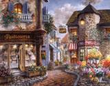 包邮精准印花新款法国dmc十字绣 客厅风景油画田园 欧洲浪漫小镇
