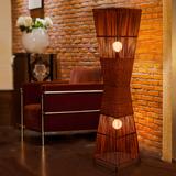 中式落地灯客厅卧室书房创意装饰灯酒店餐厅会所工程灯竹编落地灯