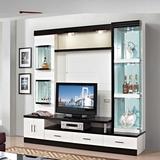 简约小户型地柜电视柜酒柜组合客厅柜影视背景墙柜组装烤漆2.17米