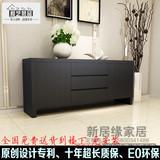 上海定做家具餐边柜黑橡木装饰柜门厅柜斗柜鞋柜酒柜现代简约包邮