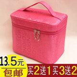 出游整理包手提包字母化妆盒化妆箱可折叠化妆包旅行收纳包化妆包