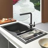 普鲁士德国进口石英石花岗岩大双槽厨盆水槽洗菜盆F804A/F804B
