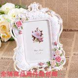 特价包邮欧式田园玫瑰相框复古艺术像片结婚纱照创意生日礼物摆台