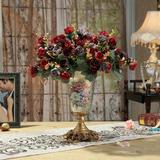 高档欧式复古树脂餐桌小花瓶创意客厅家居装饰品田园花器插花摆件