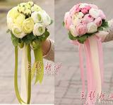 韩式小清新影楼摄影道具拍照结婚手拿花韩式新娘仿真手捧花 花球
