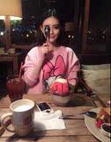 2016春秋韩版米奇唐老鸭印花学生上衣潮中长款宽松加绒卫衣T恤女