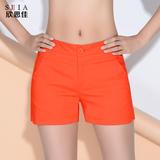 欣思佳2016夏季女式新款韩版热裤宽松显瘦休闲三分短裤