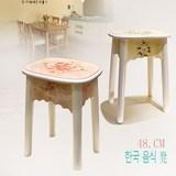 欧式整装原木餐椅创意48.CM实木餐桌凳子现代时尚简约加固圆板凳