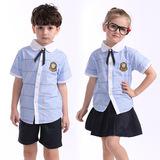 2016新款小学生校服班服幼儿园园服夏装儿童英伦学院风运动套装棉