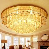 欧式水晶灯现代简约金色圆形led吸顶灯卧室创意奢华大气客厅灯具