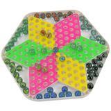 包邮大号儿童成人玻璃球弹珠跳跳棋弹子跳棋学生奖品玩具六角棋盘