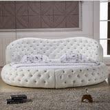 包邮来自星星的你千颂伊同款圆形软床双人床婚床布艺圆床简约欧式