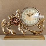 新款时尚创意钟表台钟座钟客厅装饰摆件时钟个性坐钟丽盛复古桌钟