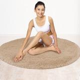 宜家加厚丝毛沙发圆形地毯卧室客厅房间地毯茶几现代简约纯色定制