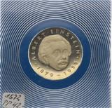 【海宁潮】东德1979年爱因斯坦诞辰100周年5马克精制版纪念币