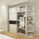 简易组合推拉门三门衣柜卧室整体二门木质大衣柜现代板式衣橱
