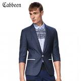 卡宾男装西服 时尚修身男士舒适商务休闲七分袖西装C/3152133002