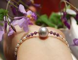 原创设计温柔紫珍珠◎天然淡水珍珠手链◎三皇冠信誉老店