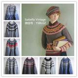 日本制Vintage复古古着孤品羊毛衣男女中性摩天轮灰色雪花圣诞