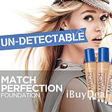 【美国正品】RIMMEL LONDON Match Perfection SPF 18 防晒粉底
