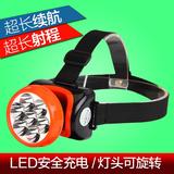 雅格LED充电式强光头灯 骑行照明钓鱼灯矿灯电筒强光头戴灯白光