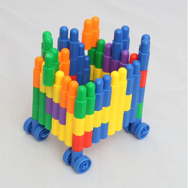 塑料头子弹拼装益智幼儿幼儿园积木拼接加厚玩具桌面拼插拼图宝宝半体非v塑料硅胶娃娃图片