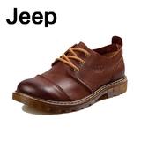 春季男士商务休闲皮鞋真皮男鞋系带英伦大头鞋工装厚底增高潮鞋子