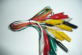 美式5色带线鳄鱼夹线鳄鱼夹导线B-10带线测试线电瓶夹线长约50mm