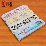 便携餐具盒韩式婴幼儿童宝宝放勺子筷子空盒随身带户外旅行餐具盒