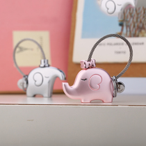 Miles couple key buckle one object key chain creative car pendant cartoon cute mini Doll