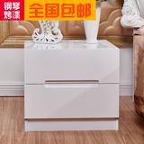 特价床头柜 简约现代床边柜 宜家储物柜白色环保烤漆 简易欧式