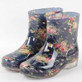 双钱雨鞋女加绒时尚保暖特价秋冬季短筒水鞋防滑厚底胶鞋中筒雨靴
