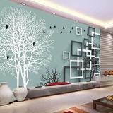电视背景墙壁纸客厅简约现代3D立体大型壁画无缝墙布墙纸抽象树