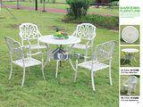 户外桌椅 花园别墅铸铝桌椅组合三五件套 庭院休闲铁艺咖啡餐桌椅