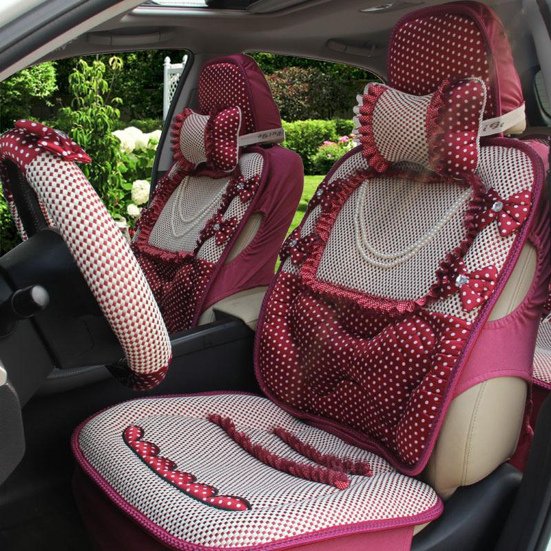 卡通四季通用汽車坐墊 冰絲坐墊汽車12件套裝商品圖片價格圖片
