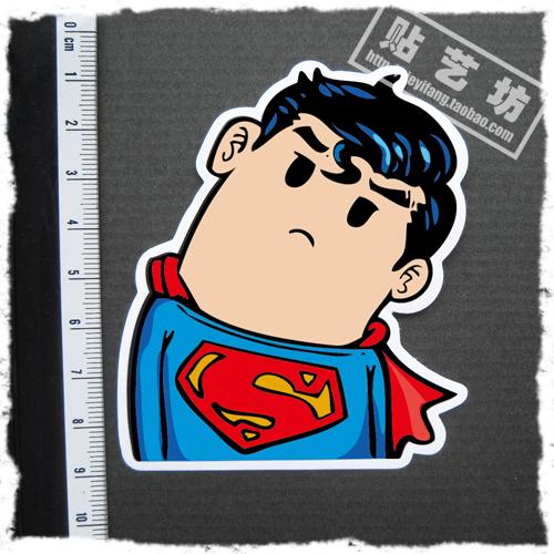 歪脖 超人贴 可爱贴纸 卡通贴纸 动漫贴纸 旅行箱贴纸 笔记本贴纸商品图片