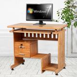 蔓斯菲尔实木环保台式电脑桌书桌家用简约楠竹写字台简易办公桌子